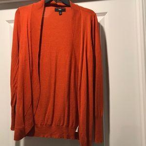 Mossimo burnt orange cardigan, L